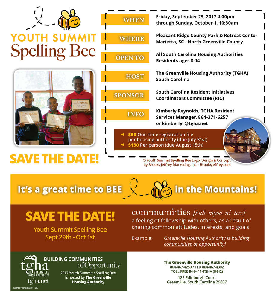 Save the date 2017 Spelling Bee
