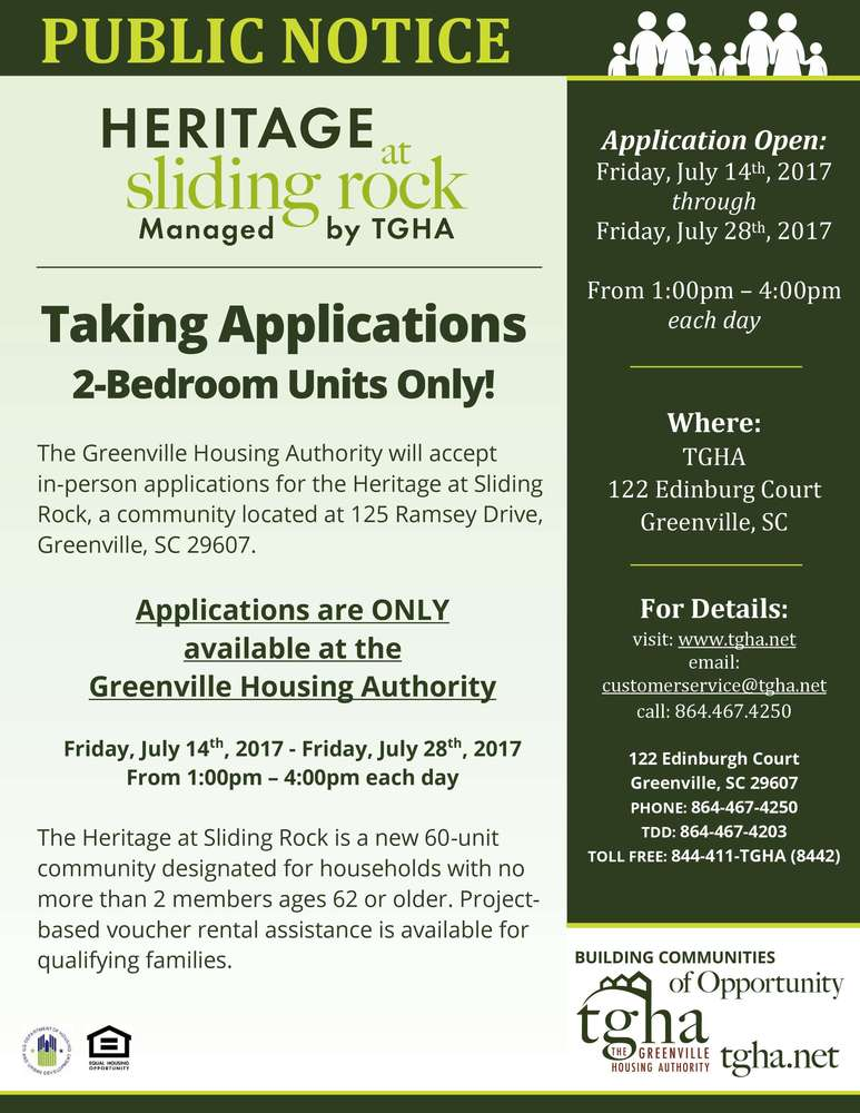 heritage at sliding rock applications eblast