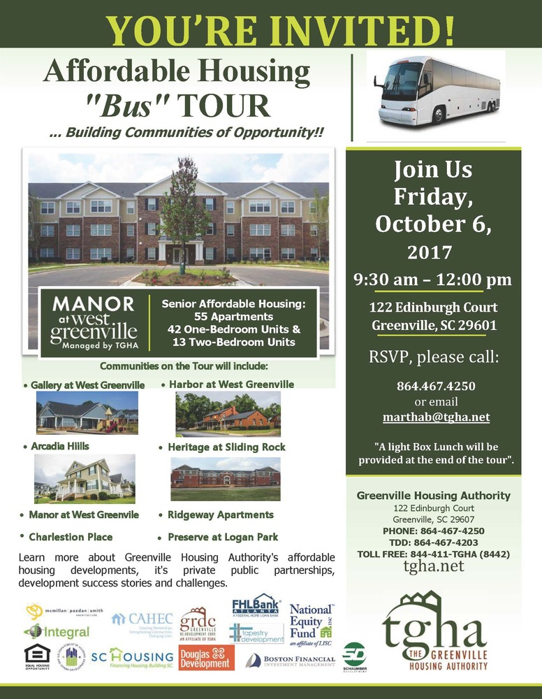 Affordable Housing Tour - October 6/2017