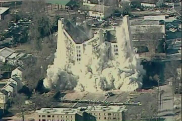 History Scott Towers Implosion