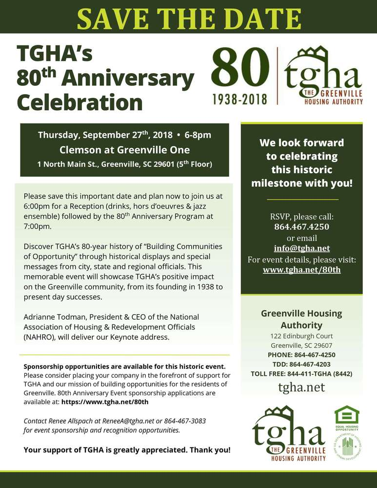 80th Anniversary Save the Date