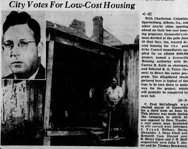 City Votes for Low Cost Housing newspaper article from December 28, 1941
