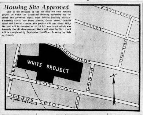 Housing Site Approved newspaper article from March 19, 1942