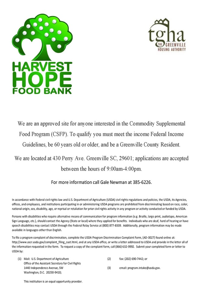 Harvest Hope Flier