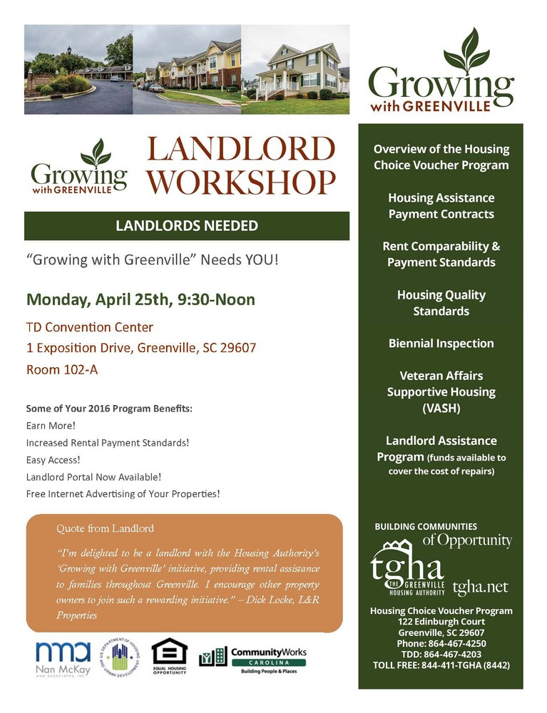 greenTGHA 2nd Annual Landlord Workshop_Growing With Greenville_Mark Your Calendar_Page_2