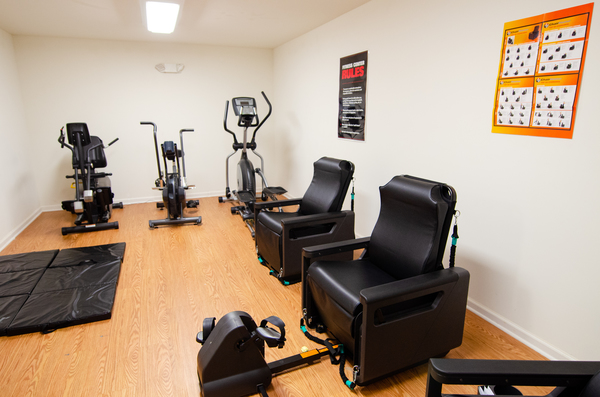 Gym Equipment in the exercise room of Heritage at Sliding Rock